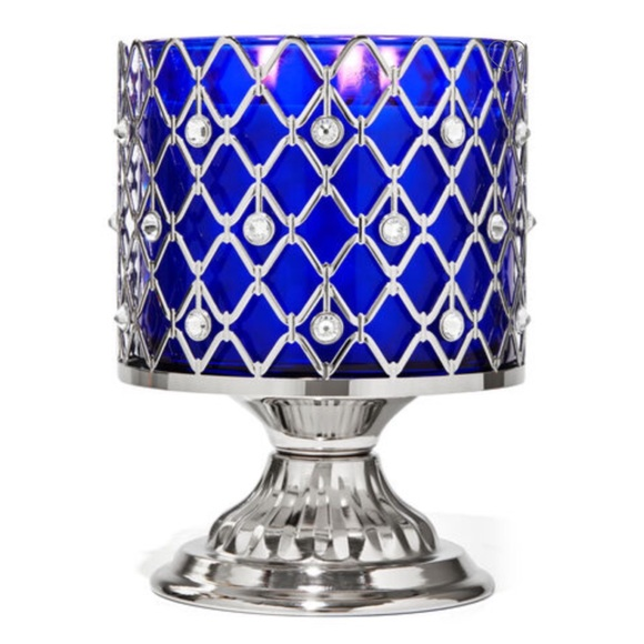 B&BW Wired Gems Pedestal 3-Wick Candle Holder